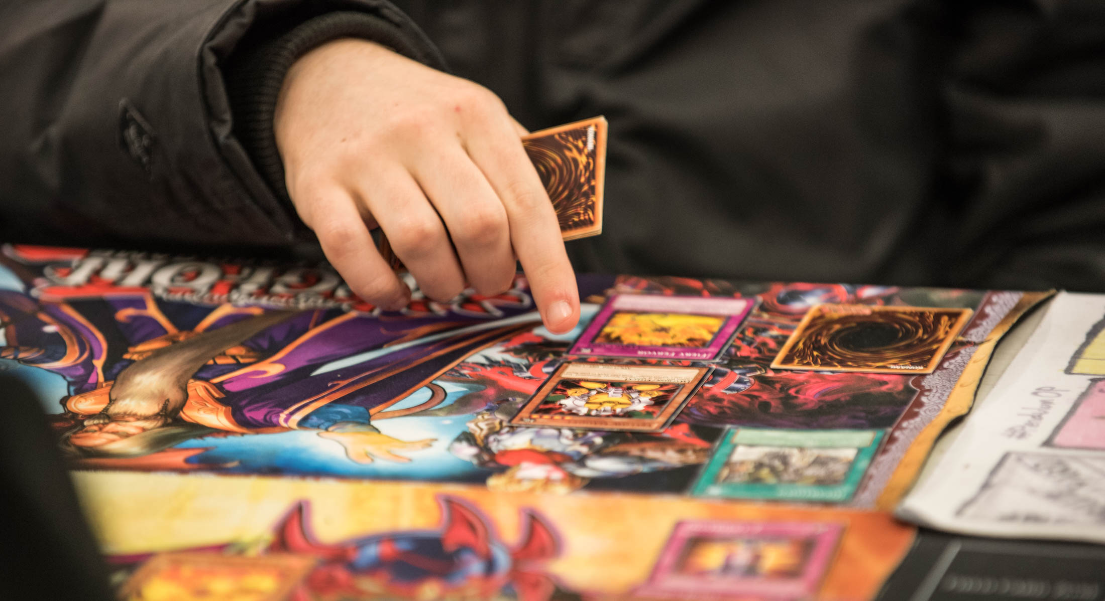 Card games being played at Big Dog Books, Perth